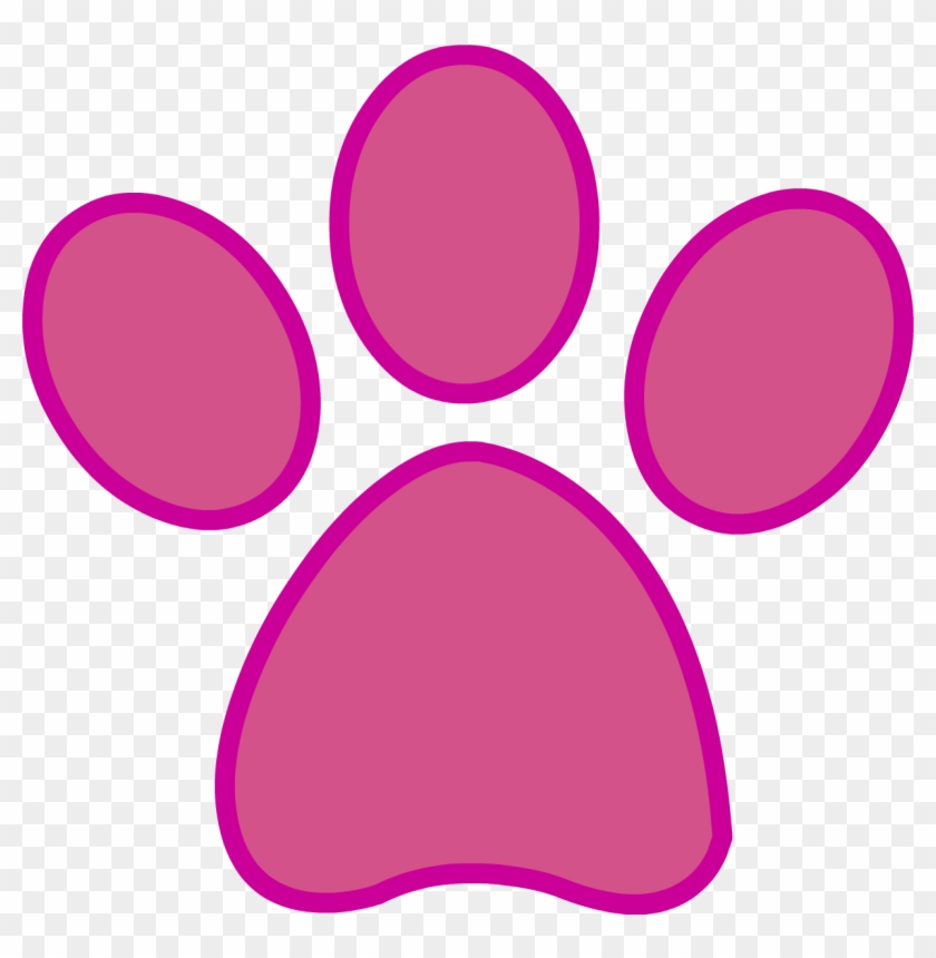 Pink Panther Clipart - Pink Panther Paw Print #13800