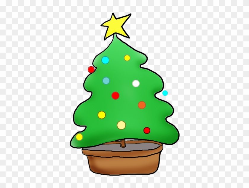 Christmas Tree With Christmas Decorations - Christmas Tree Clip Art #13809