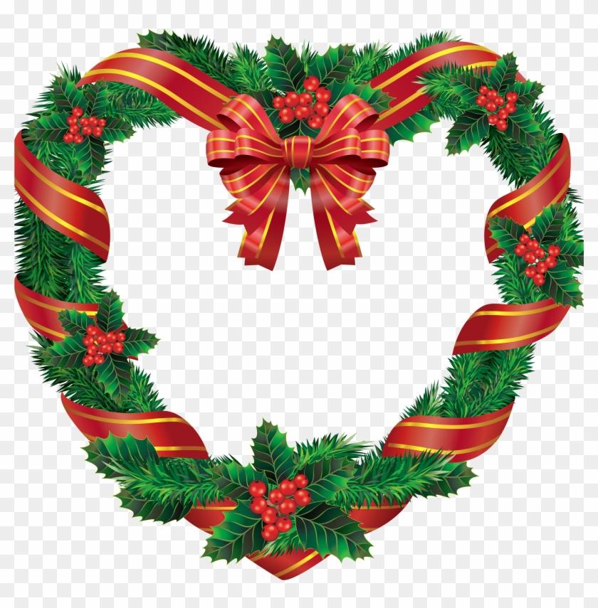 Christmas Bows, Merry Christmas, Clipart Images, Clip - Wreath Transparent #13830
