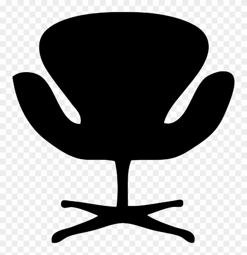 Deck Chair Silhouette, Designer Chair Silhouette - Armchair Silhouette #13850