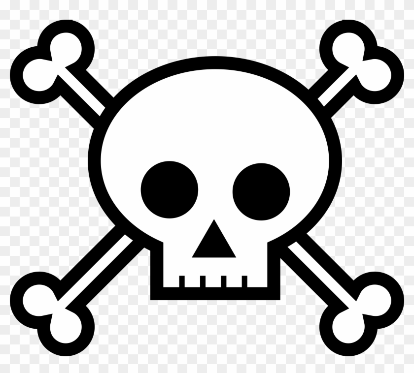 Clipart - Draw Skull And Bones #13861