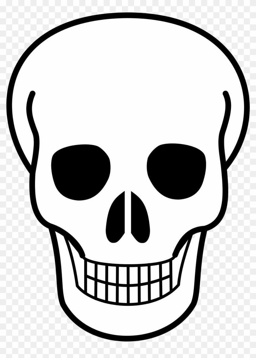 File - Skull-icon - Svg - Simple Skull #13864