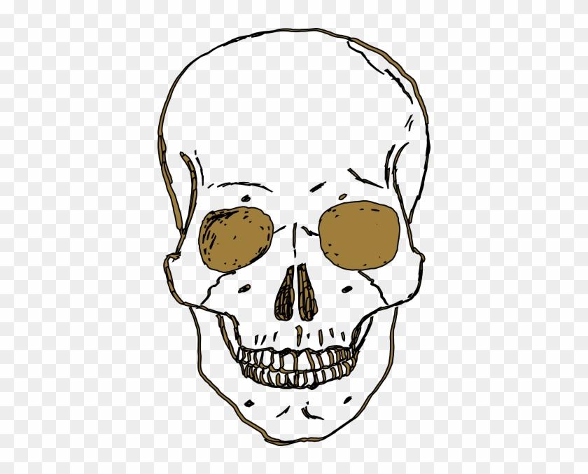 Gold Skull Clip Art - Skull Clipart Transparent Background #13886
