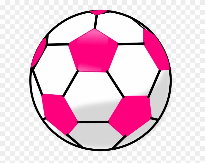 Soccer Ball Clip Art - Pink Soccer Ball Clipart #13897