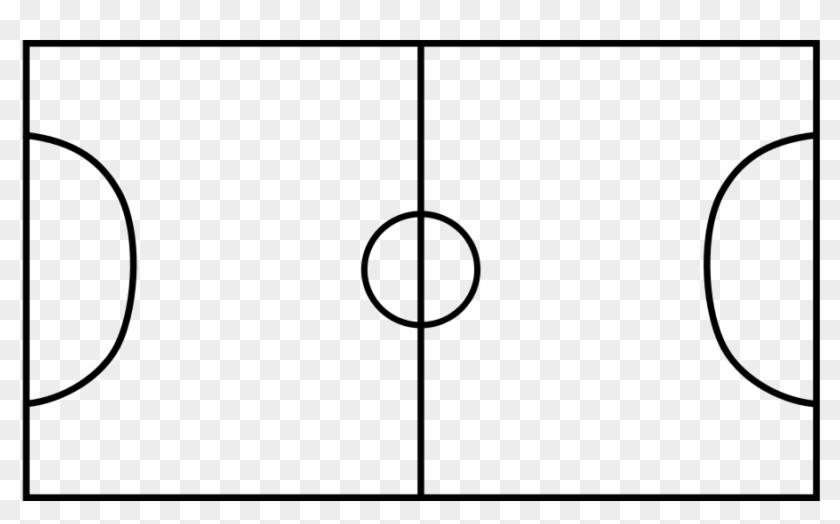Soccer Clip Art - Soccer Field Black And White #13899