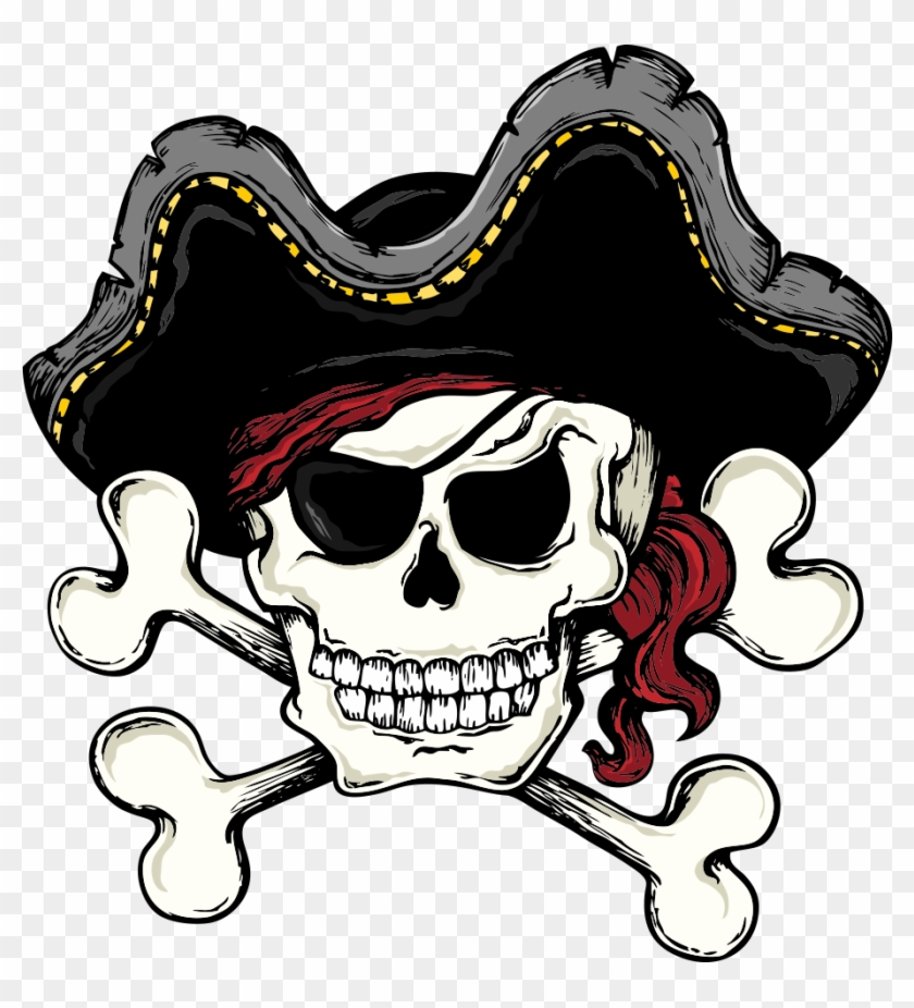 Skull And Bones Skull And Crossbones Piracy Clip Art - Pirate Skull And Crossbone #13941