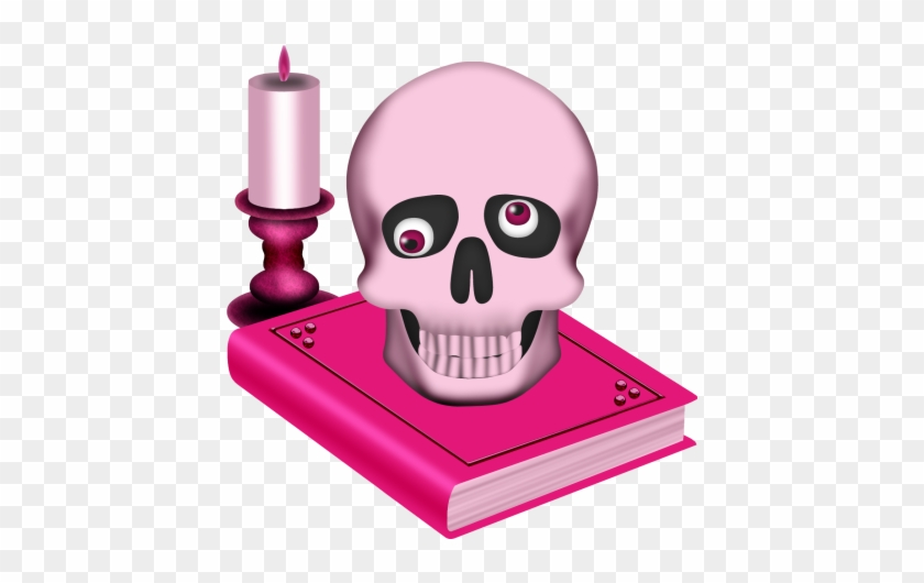 Skull, Book And Candle - Skull #13946