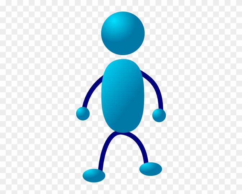 Standing Stick Man Clip Art At Clker - Stick Person Standing Clipart #13949