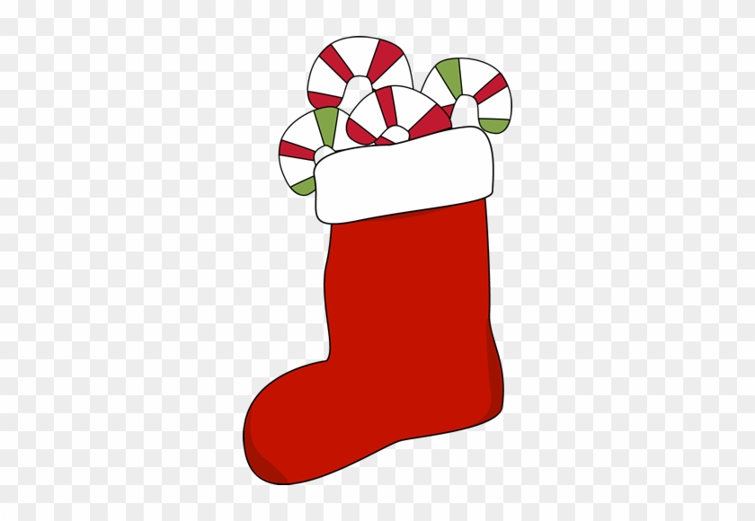 Christmas Stocking Clip Art, Christmas Stocking Clip - Stocking With Candy Canes #13954