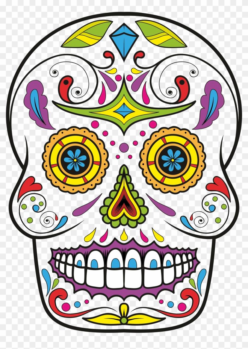 Calavera Skull Day Of The Dead Drawing Clip Art - Calavera Skull Day Of The Dead Drawing Clip Art #14064