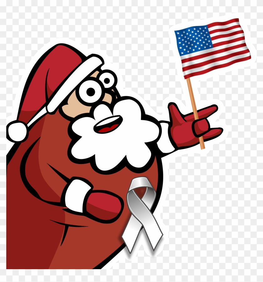 Funny Christmas Web - American Flag Christmas Clip Art #14030
