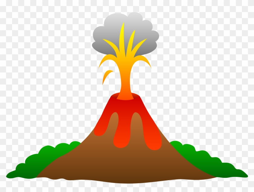 Volcano Erupting With Lava Free Clip Art Clipart Png - Volcano Clipart Transparent #14071