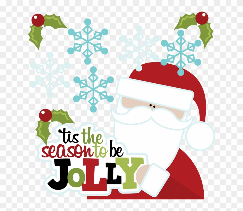 Tis The Season To Be Jolly Cuttable Scrapbook Svg Files - Tis The Season To Be Jolly #14068