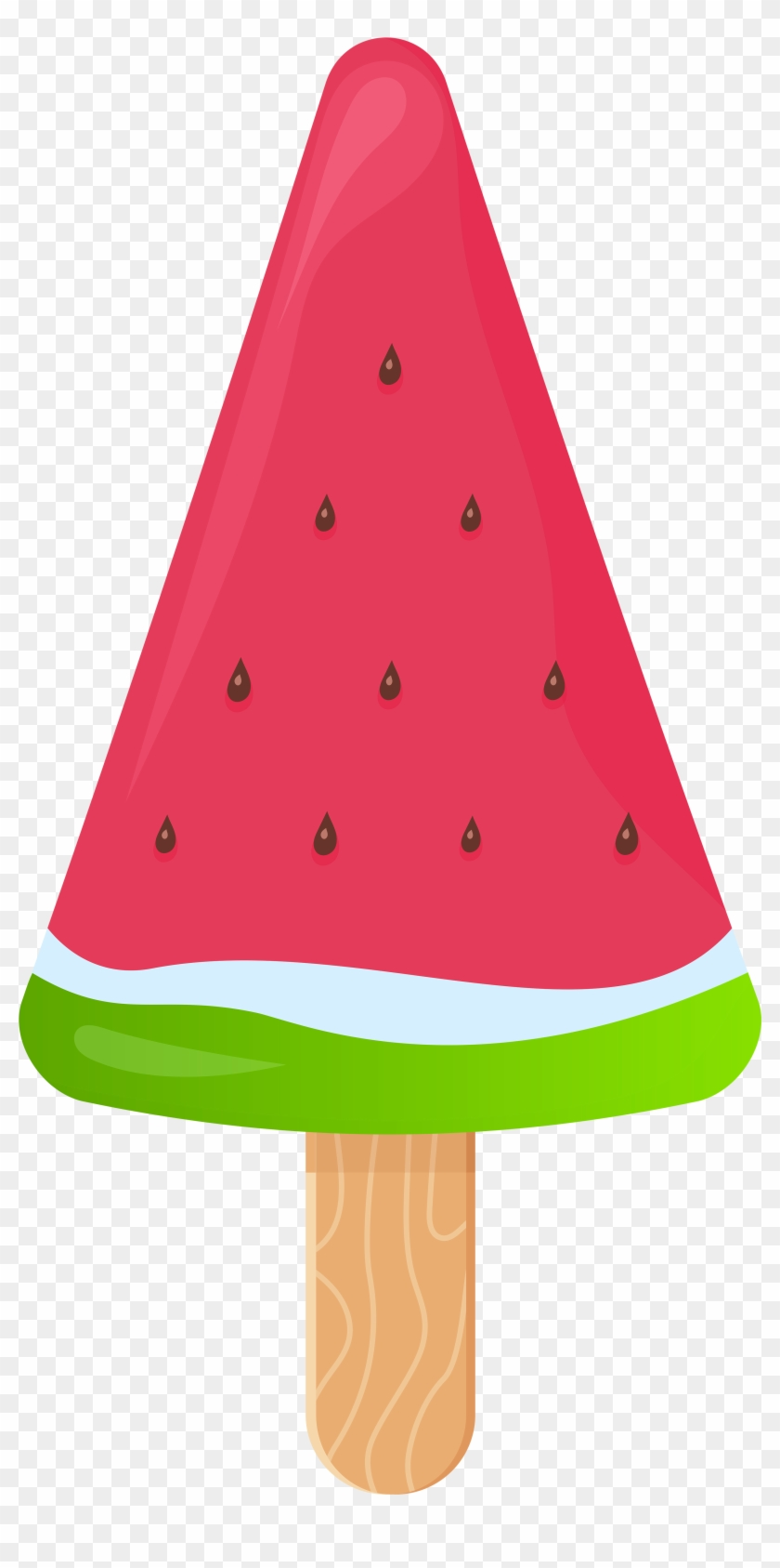 Chocolate Ice Cream Ice Cream Cones Clip Art - Watermelon Ice Cream Stick #14102