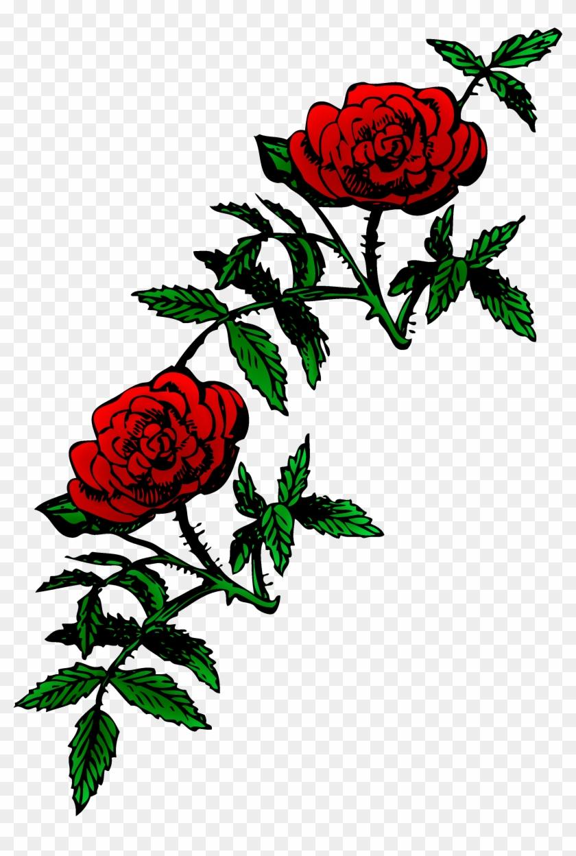 Roses Public Domain Rose Decoration Free Clip Art - Rose Png Public Domain #14109
