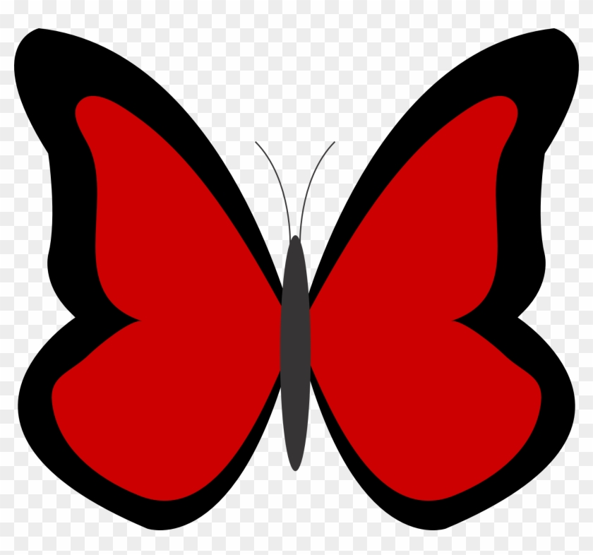 Red Butterfly Cliparts Free Download Clip Art - Butterfly Clip Art Red #14106