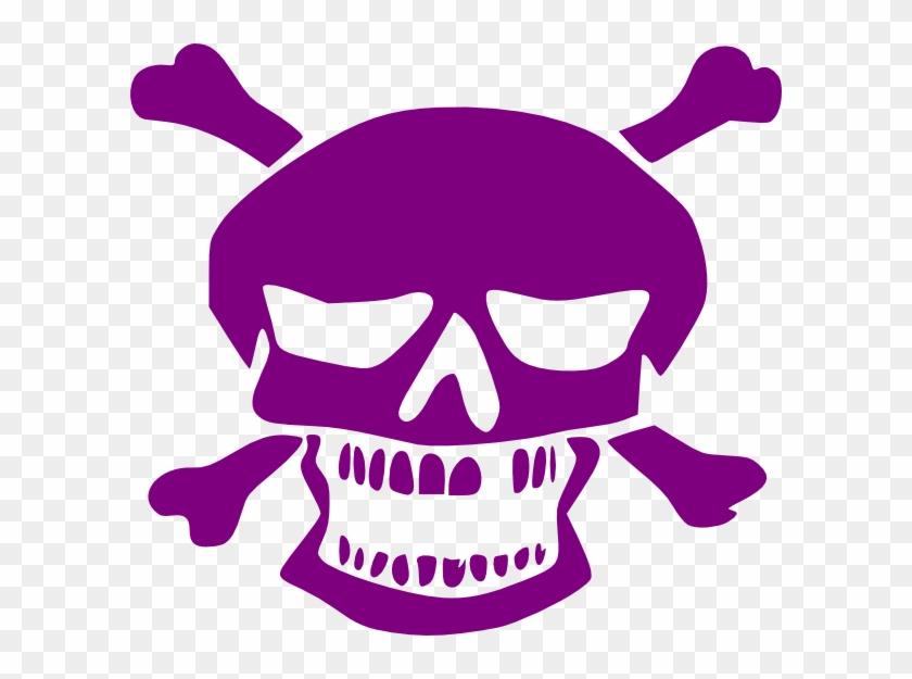Purple Skull Clip Art At Clker - Purple Skull Png #14112