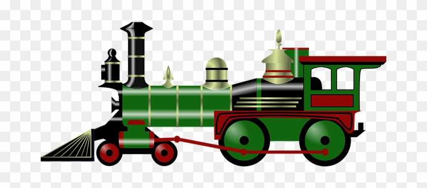 Steam Engine Train Old Transportation Toy - Christmas Train Clip Art #14152