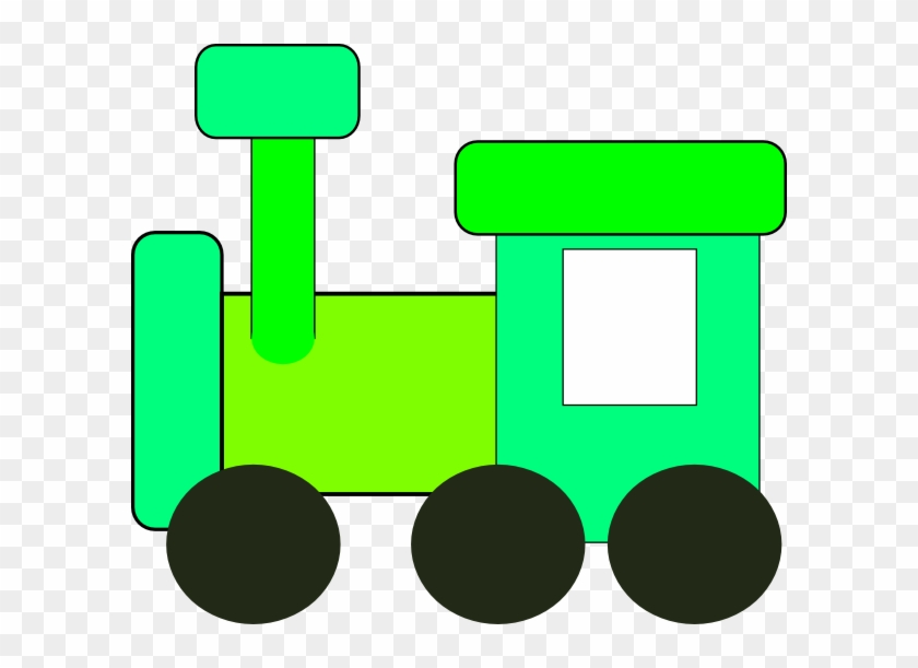 Train Clip Art Green #14155