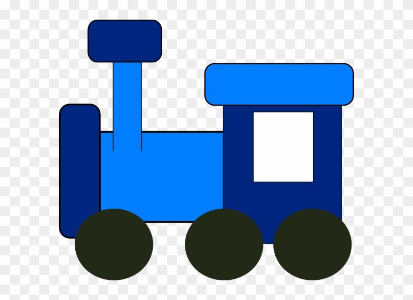 Blue Train Clip Art At Clker - Clip Art Blue Train #14157