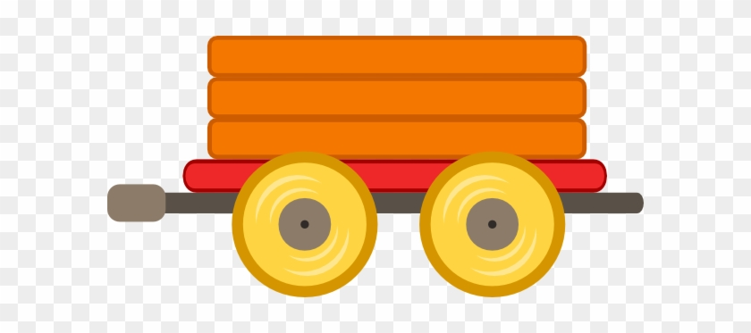 Train Car Orange Clip Art - Orange Train Clipart #14158