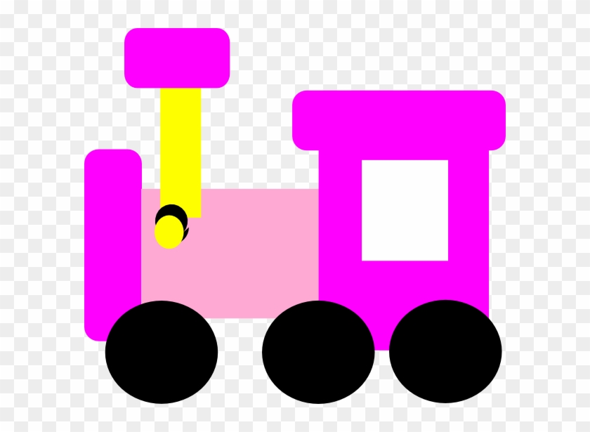 Pink Locomotive Train Clip Art At Clker - Cute Pink Train Clipart #14172