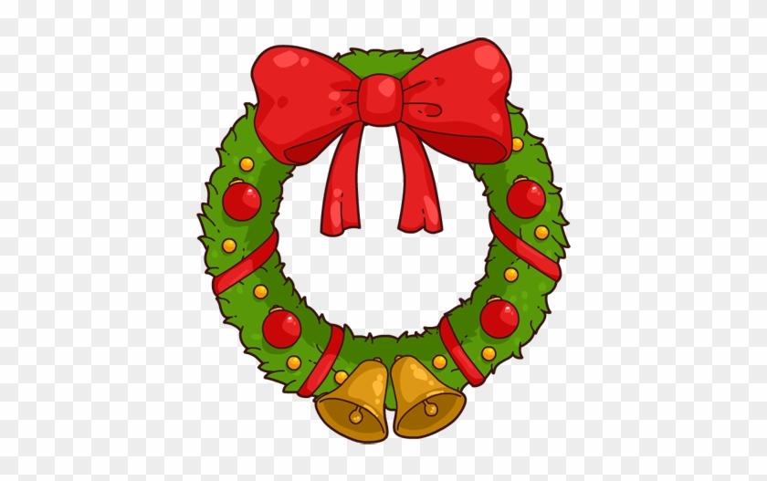 Christmas Wreath Clip Art - Christmas Wreath Cartoon #14231