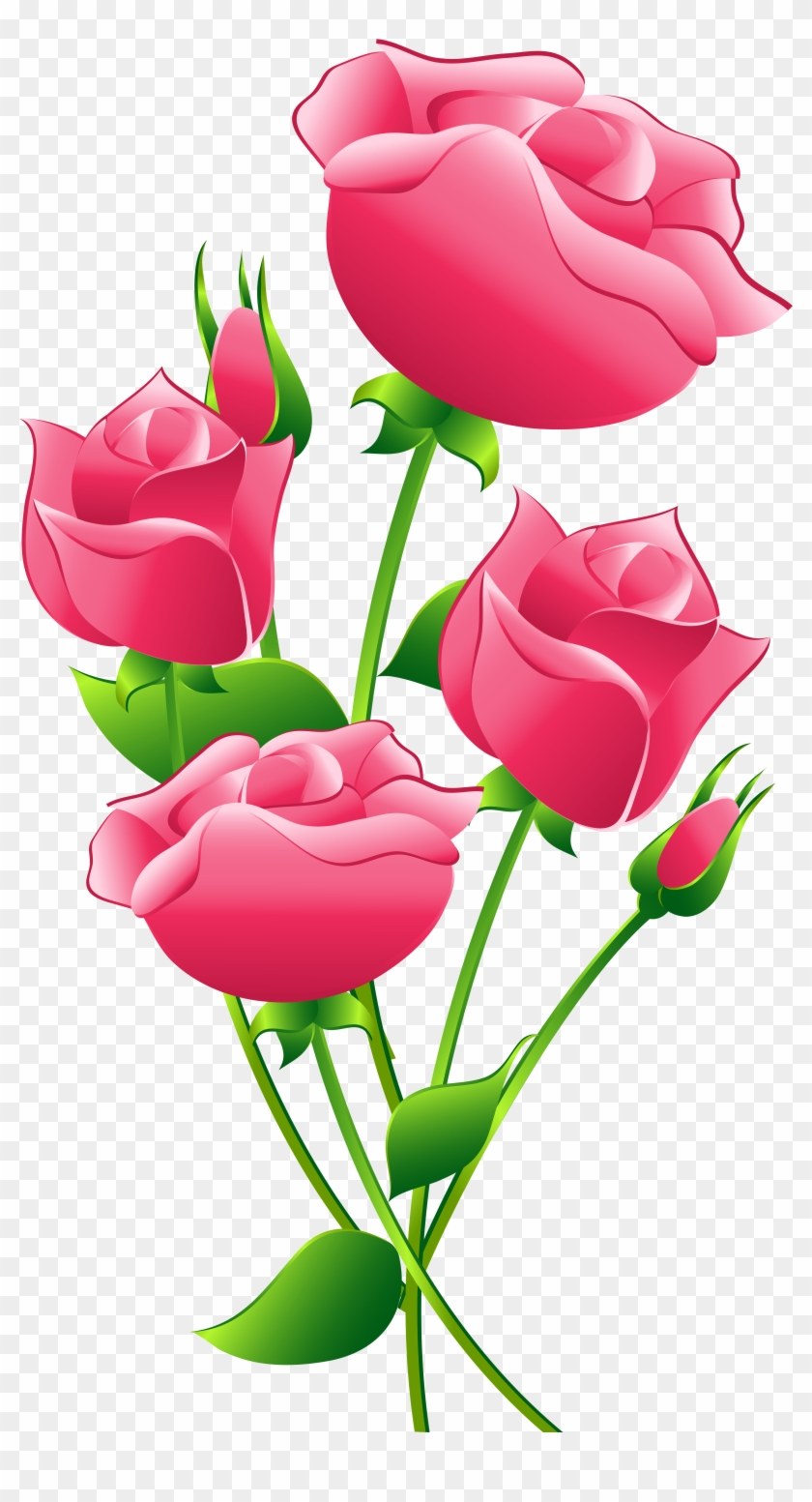 Pink Roses Transparent Clip Art Image - Pink Roses Transparent Clip Art Image #14289