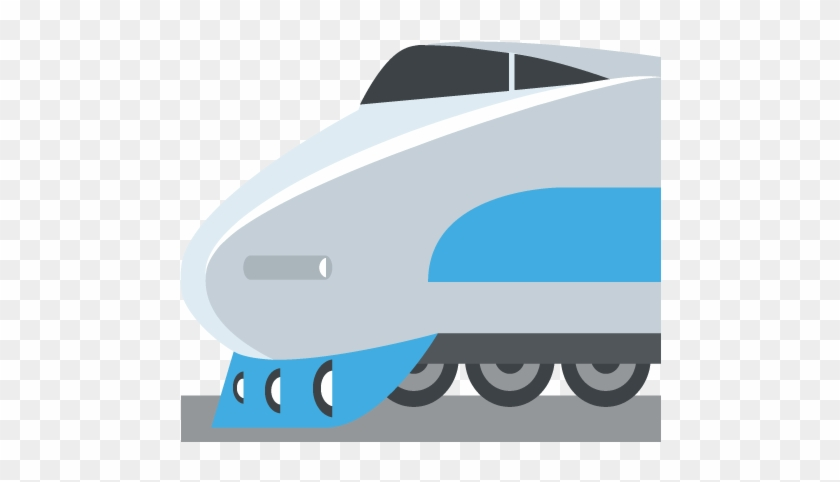 High Speed Train With Bullet Nose Emoji Vector Icon - Trem Emoji Png #14264