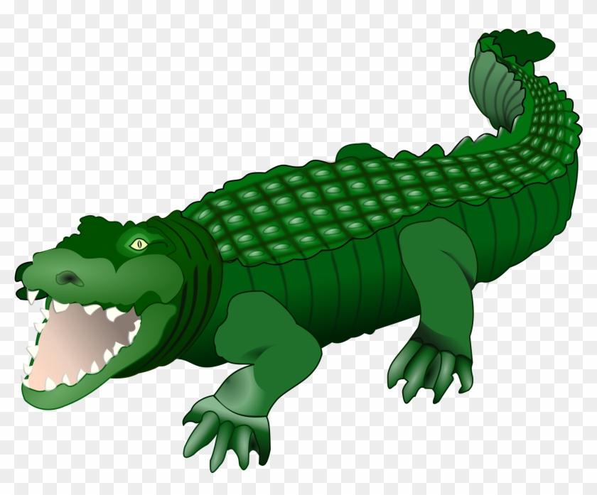 Free Crocodile Clip Art Of Crocodile Alligator Clip - Crocodile Clipart #14273