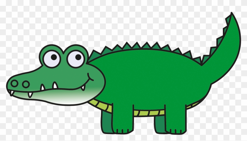 Also - Clip Art Picture Of An Alligator #14297