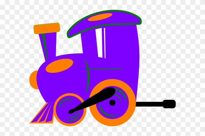 Toot Toot Train And Carriage Clip Art - Purple Train Clipart #14290