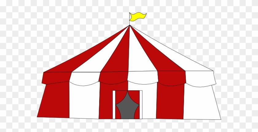 Tent Clip Art - Circus Tent Top Clipart #14298