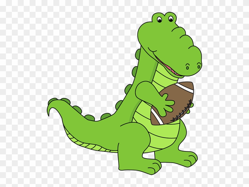 Alligator With A Football - Alligator Playing Football Clipart #14299