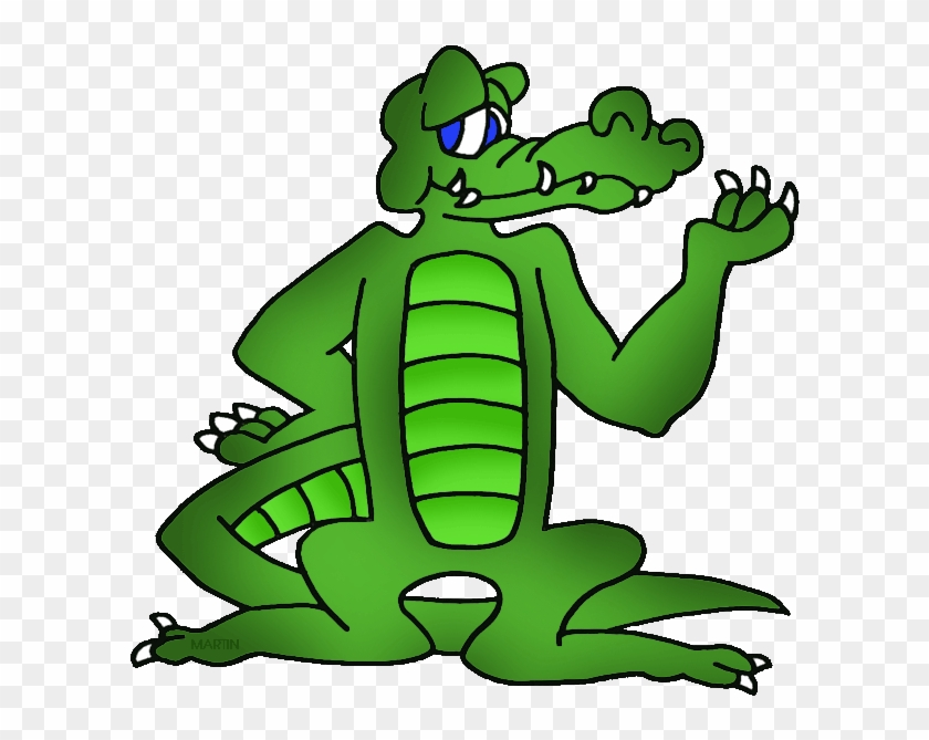 Louisiana State Reptile - Alligator Clip Art #14308