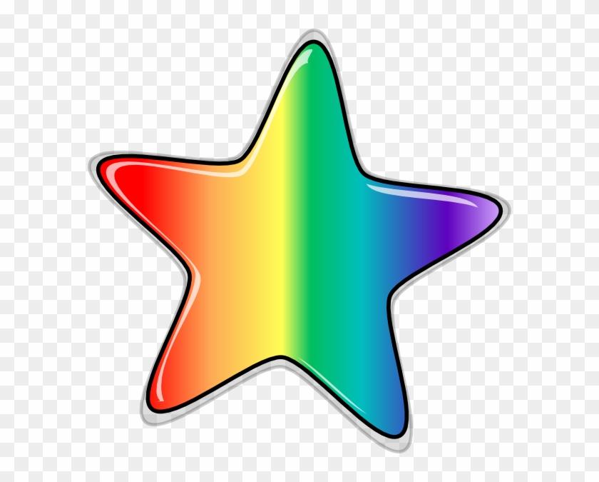 Rainbow Star Edited Clip Art - Star Clip Art #14333