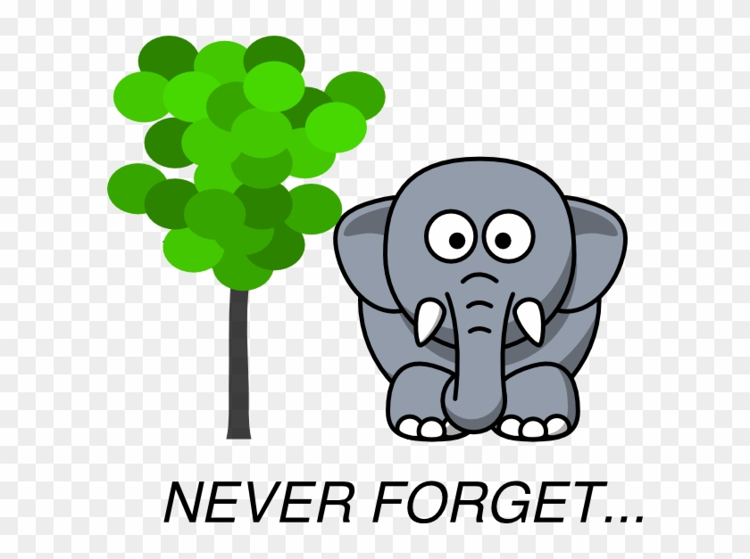 Elephant Clipart Memory - Elephant Never Forgets Clipart #14353