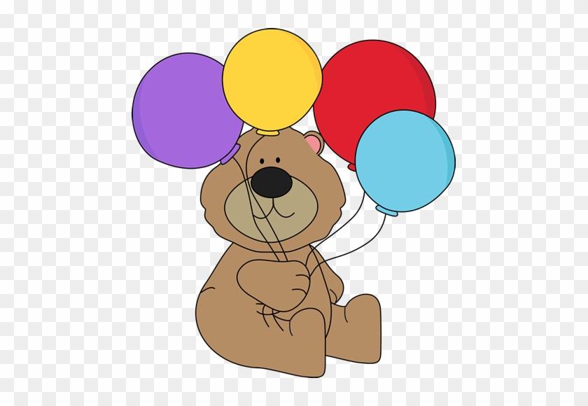 Bear With Balloons - Bear Holding A Balloon #14356