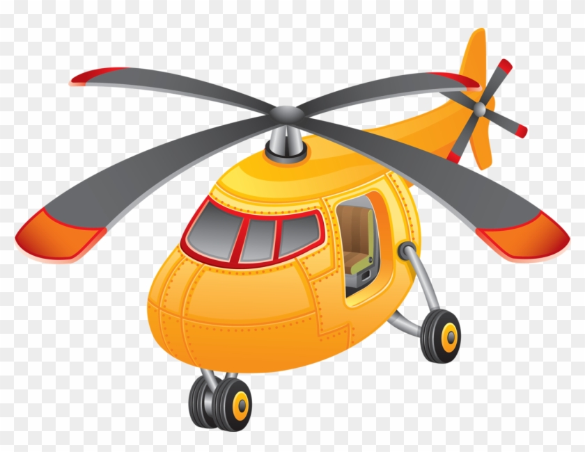 Cartoon Picture Of An Helicopter #14361