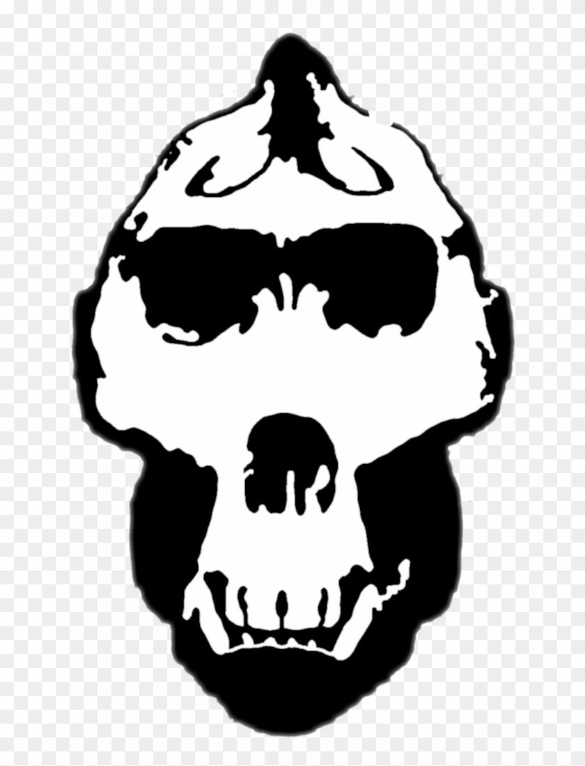 Gorilla Skull Stencil By Zimdrake On Deviantart - Gorilla Skull Png #14384