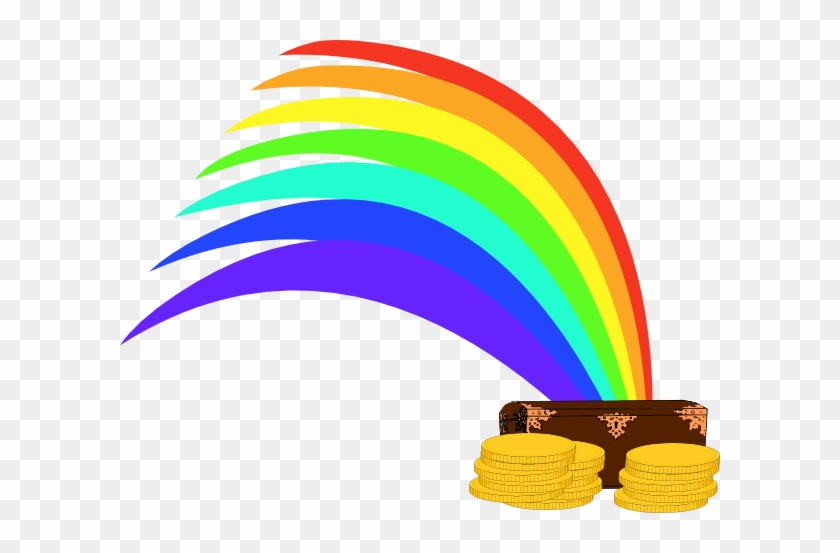 Gold At The End Of The Rainbow Clip Art At Clker - Treasure At End Of Rainbow #14415