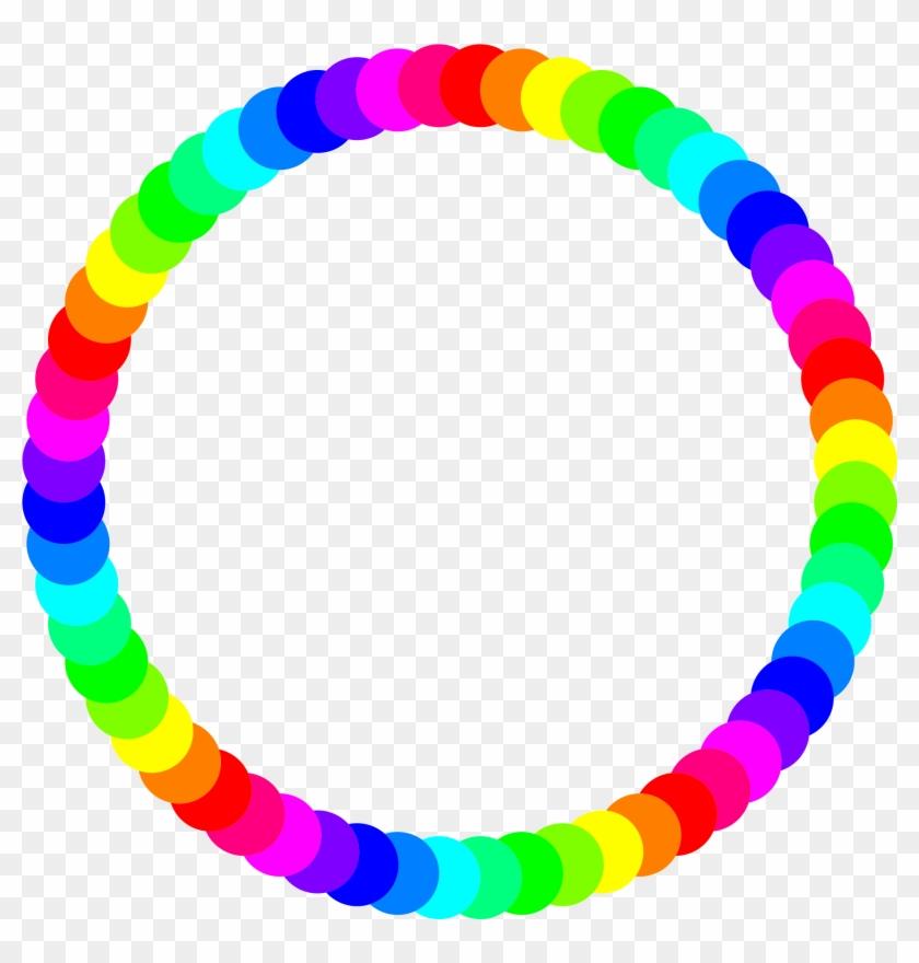 Circle Ring - Rainbow Circle Border #14432