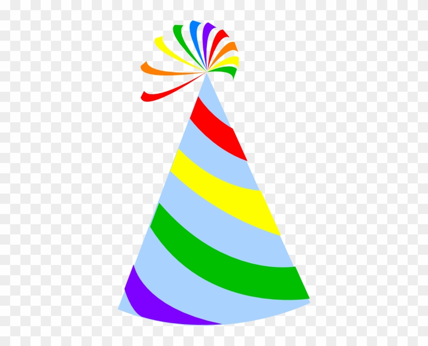 Rainbow Party Hat Sky Blue Clip Art - Clip Art Party Hat #14435