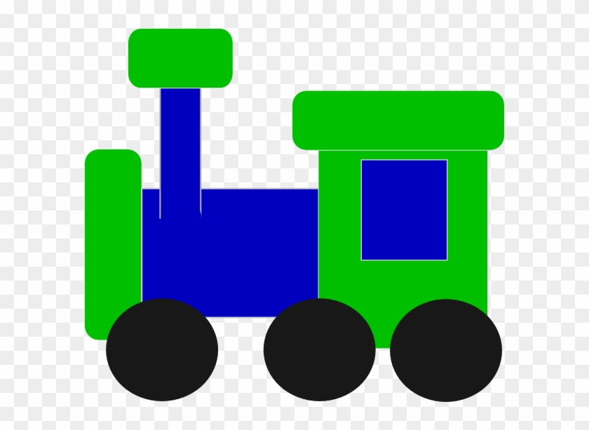 Blue And Green Train Clip Art At Clker - Blue And Green Train Clipart #14490