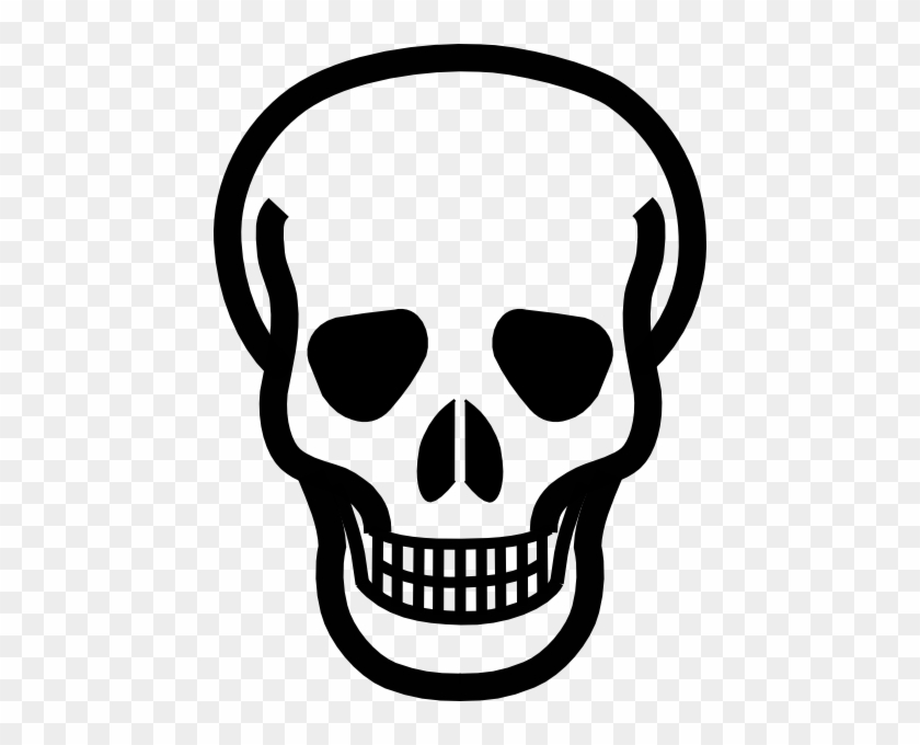 Totetude Skull Outline Clip Art - Outline Of A Skull #14481
