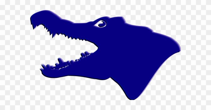 Alligator Head Silhouette Clipart - Alligator Head Silhouette #14524