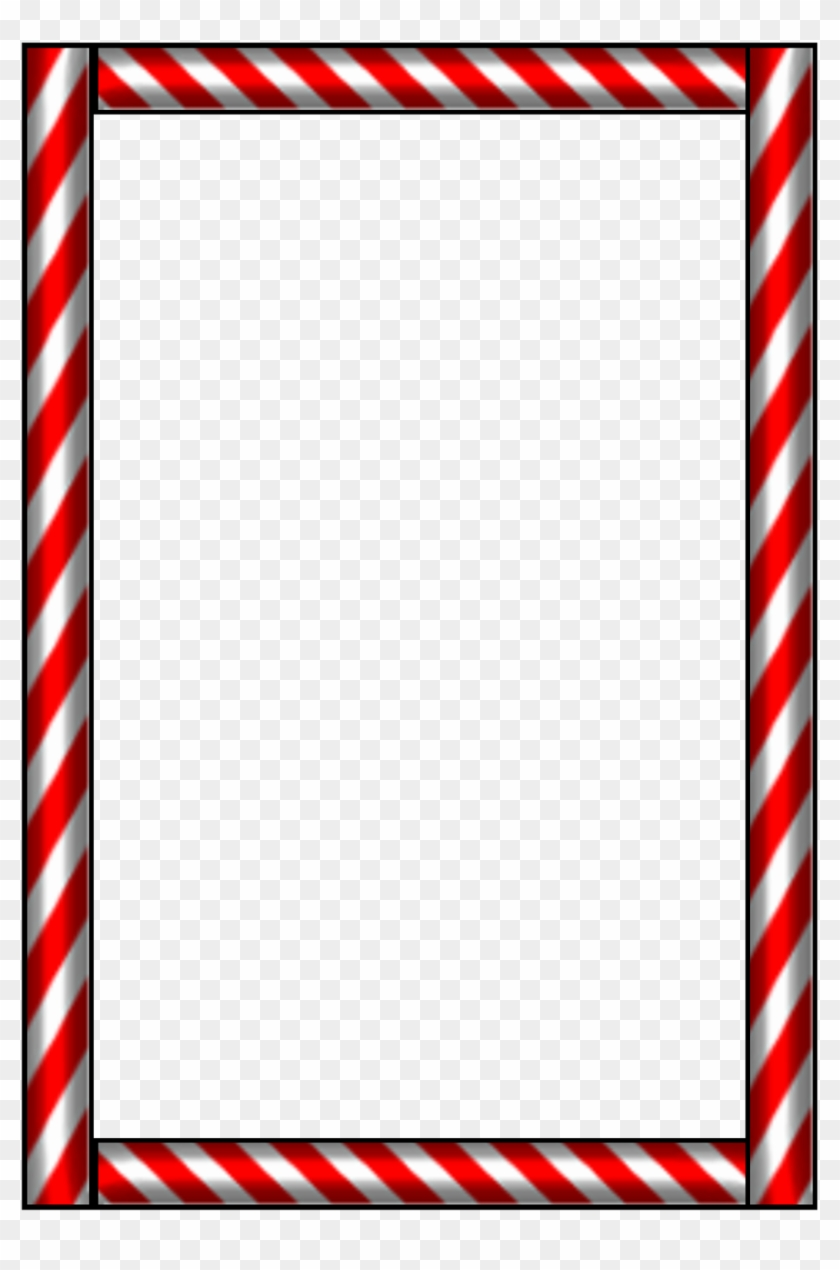 Candy Cane Clip Art Borders - Candy Cane Border #14565