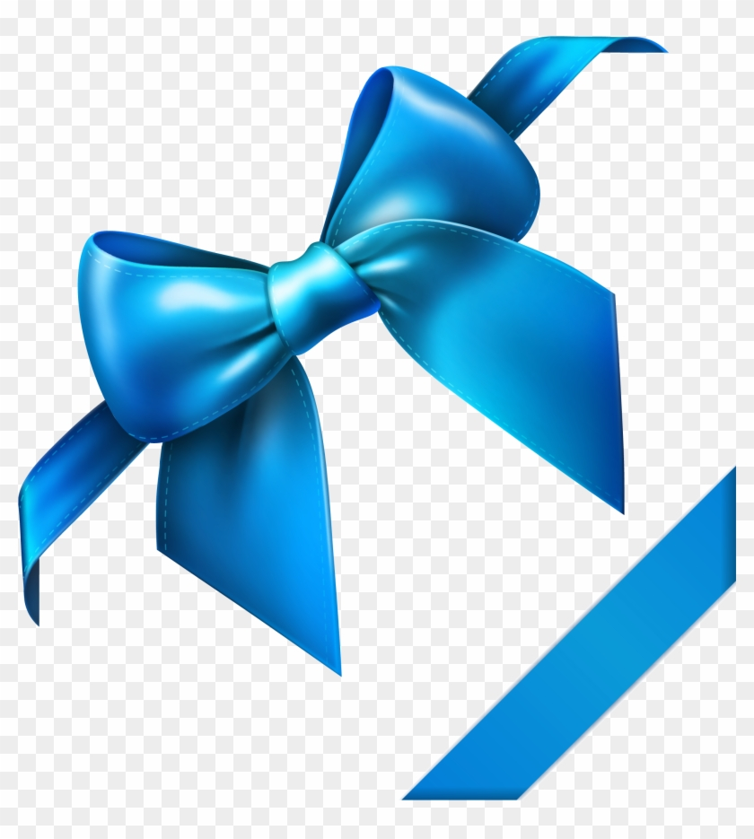 Blue Bow Png Clipart Picture - Blue Bow And Ribbon #14579