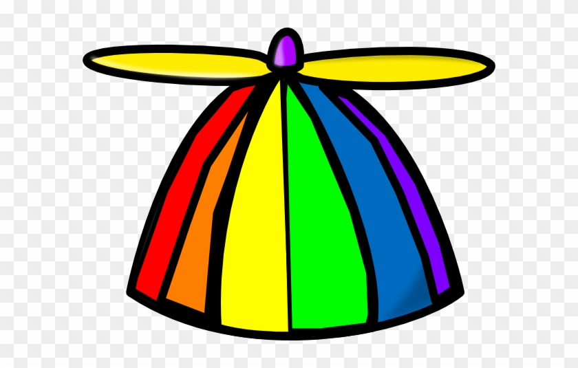 Rainbow Propellor Hat Clip Art At Clker Com Vector - Crazy Hat Clip Art #14571
