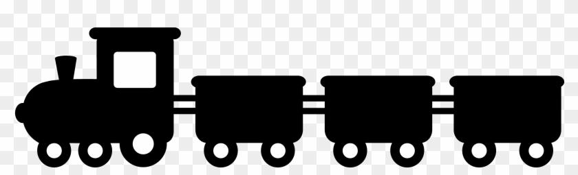 Black Train Silhouette - Train Clipart #14589